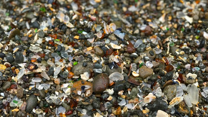 d94072cd8f12 Sea Glass On Glass Beach In Fort Bragg, Mendocino County, California
