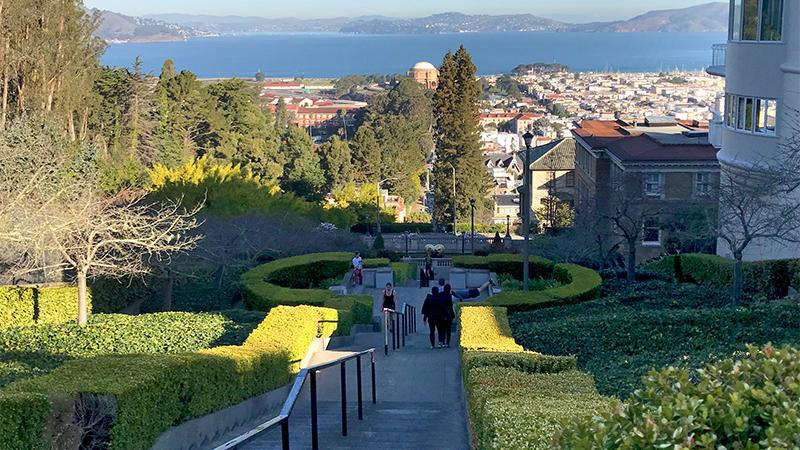 Image result for lyon street steps sf