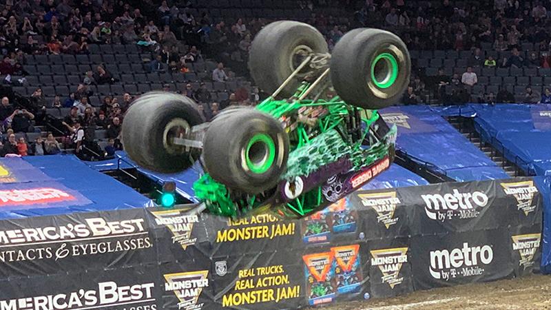 Grave Digger Back Flip Monster Jam